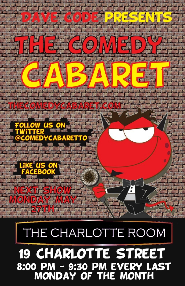 The Comedy Cabaret - May 27th @8PM!