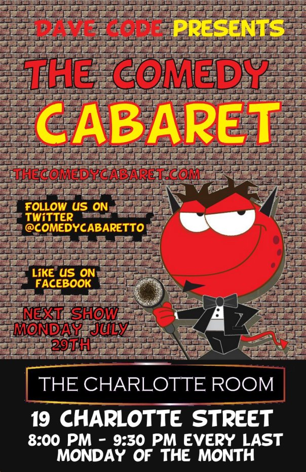 The Comedy Cabaret - July 29th @ 8PM!