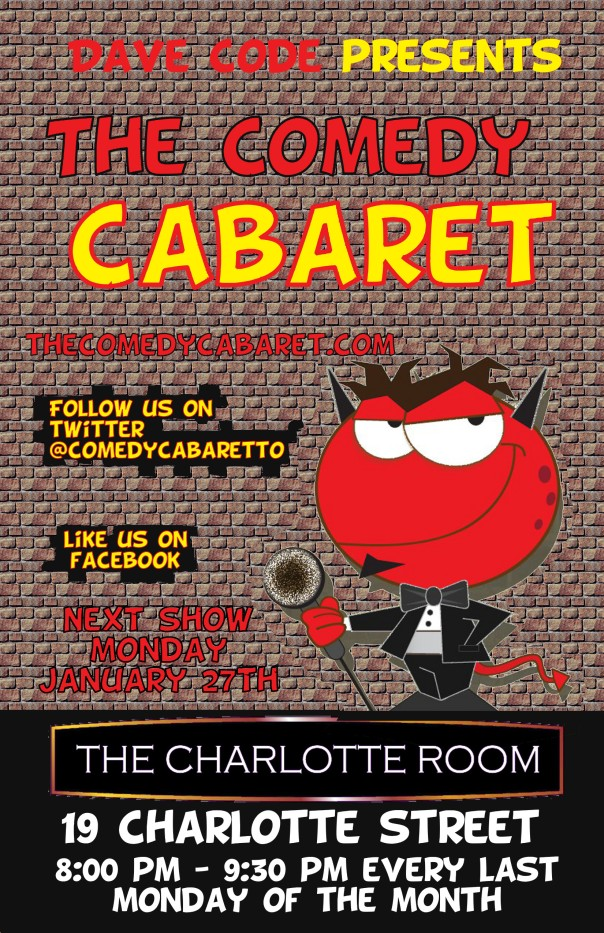 The Comedy Cabaret - January 27th @ 8PM!