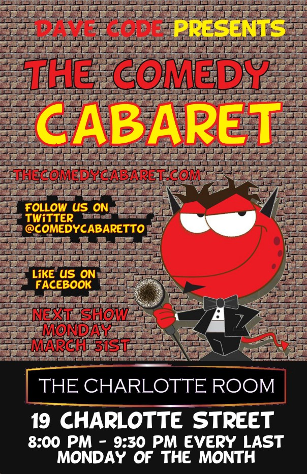 The Comedy Cabaret - March 31st @ 8PM!