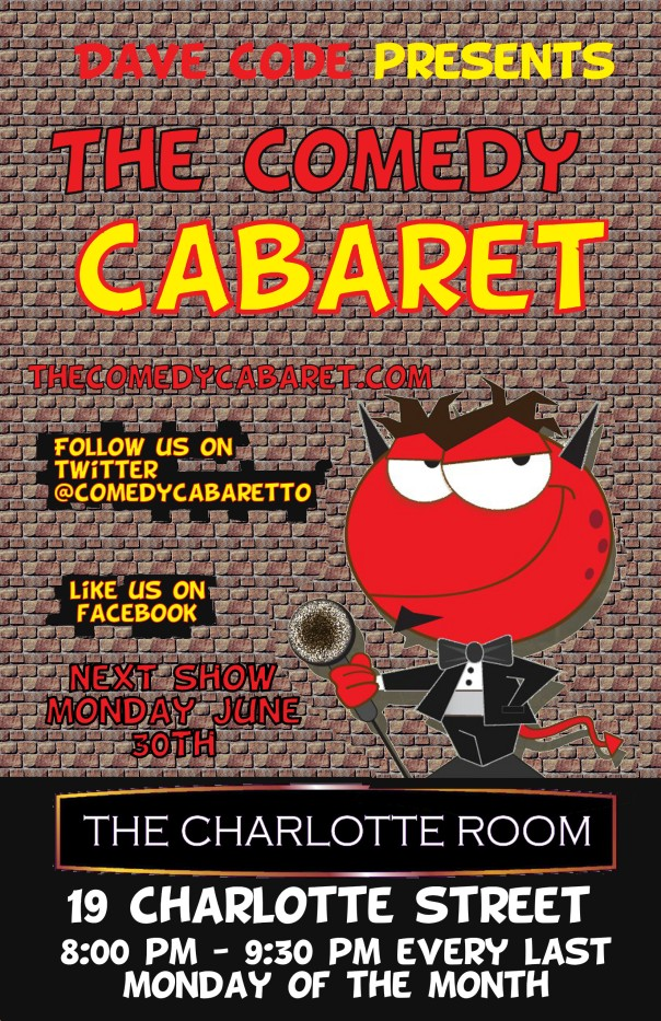 The Comedy Cabaret June 30th 8pm!